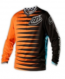 TROY LEE DESIGNS Maillot Manches Longues ENFANTS GP JOKER Orange Noir