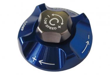 Bouton Réglage Compression SUNTOUR SR pour SF12 Durolux TA-RC2 Bleu