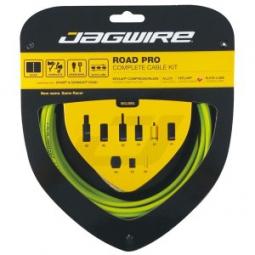 JAGWIRE Kit Complet Câbles Gaines ROAD PRO Freins/Dérailleurs Organic Green