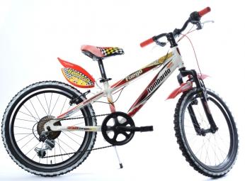 LOMBARDO Vélo enfant FUEGO 20´´ 6 Vitesses Blanc/Rouge
