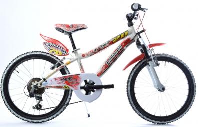LOMBARDO Vélo enfant ARTEMIS 20´´ 6 Vitesses Blanc/Rouge