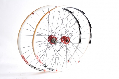 AMERICAN CLASSIC Paire de Roues MTB 29'' axe 9mm/9x135mm Tubeless Blanc