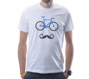 ALLTRICKS T-shirt Officiel VINTAGE MOUSTACHE Blanc