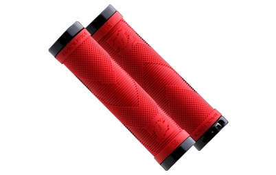 race face paire de grips sniper lock on rouge