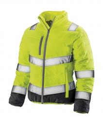 Result Veste matelassée - doudoune sécurité femme R325F - jaune fluo