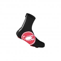 castelli paire de couvre chaussures diluvio noir rouge 36 39