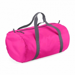 Bag base sac de voyage toile ultra leger pliant bg150 rose fuchsia packaway barrel bag