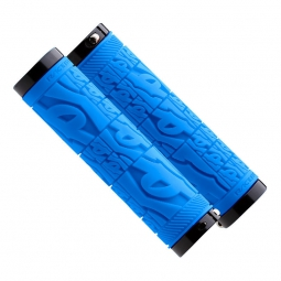 race face paire de grips strafe lock on bleu