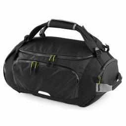 Quadra sac de voyage sac de sport transformable sac a dos qx550 noir 30 litres
