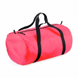 Bag base sac de voyage toile ultra leger pliant bg150 rose fluo packaway barrel bag