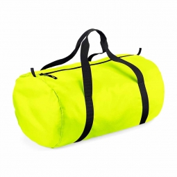Bag base sac de voyage toile ultra leger pliant bg150 jaune fluo packaway barrel bag