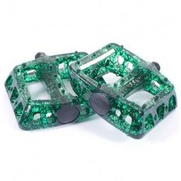 ODYSSEY Pédales TWISTED Vert Crackle