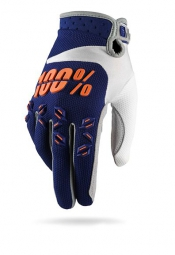 100% Paire de Gants AIRMATIC Bleu Orange