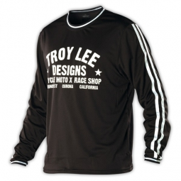 troy lee designs maillot manches longues super retro noir l