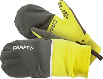 CRAFT Paire de Gants HYBRID WEATHER Jaune