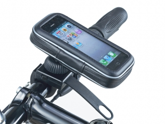 MUVIT Etui Téléphone Etanche avec support vélo ceinture Noir