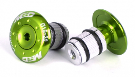 MSC Screw In Bar End Plugs - Green