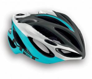 MET 2015 Helmet INFERNO UL Black White Cyan
