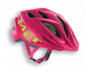 Casco Met Crackerjack Rosa Verde