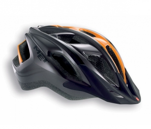 Casque Met FUNANDGO Anthracite Orange