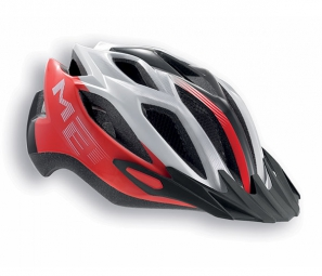 Casque Met Crossover XL Rouge Blanc