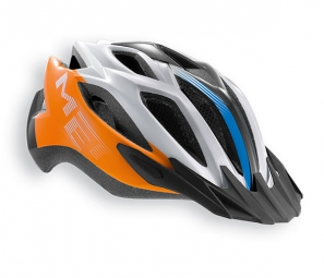 Casque Met Crossover XL Orange Bleu