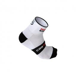 castelli paire de chaussettes rosso corsa 6 blanc 44 47