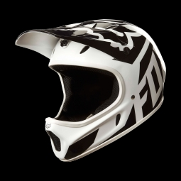 Casque de vtt fox rampage race helmet white black