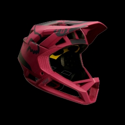 Casque de vtt fox proframe moth helmet dark red l