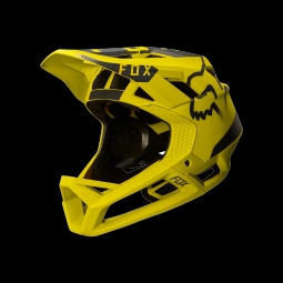 Casque de vtt fox proframe moth helmet dark yellow l