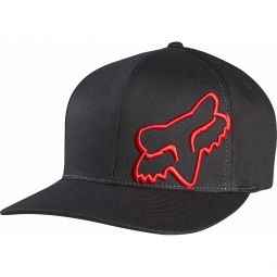 Casquette fox flex 45 flexfit black red l xl