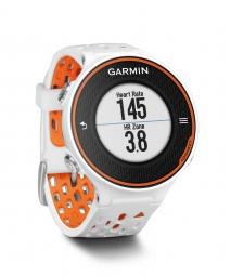 garmin montre de running gps forerunner 620 blanc orange ceinture cardiaque