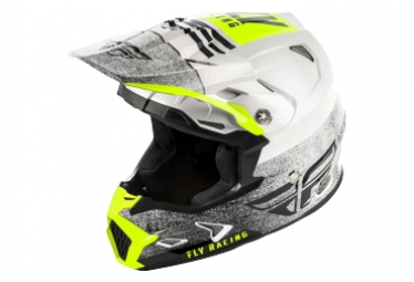 Fly Racing Toxin Mips Embargo Kid Helmet White/Black