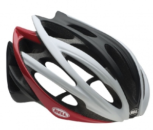 Casque Bell GAGE Blanc Rouge Noir