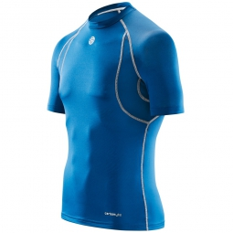 maillot thermique skins carbonyte homme bleu s