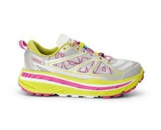 hoka chaussures stinson atr blanc rose femme 36