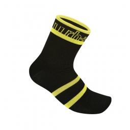 zero rh paire de chaussettes andro noir jaune 46 48