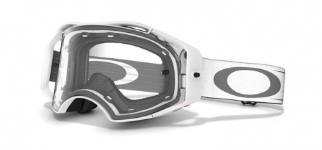 OAKLEY Masque AirBrake Mx White Retro Speed Ecran Transparent
