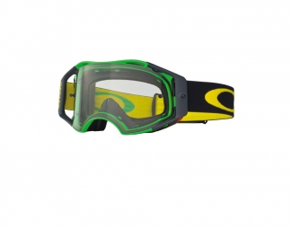 OAKLEY Masque AirBrake Mx Vert/Jaune Retro Speed Ecran Transparent