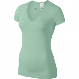 Nike t shirt dri fit knit vert femme l