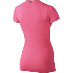 maillot femme nike dri fit knit rose s