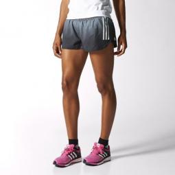 Adidas short fendu adizero femme gris 42