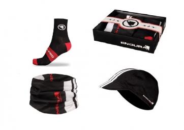 ENDURA Coffret cadeau : Chaussettes X1, casquette et Tour de cou FS260 Noir