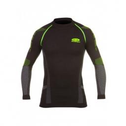 Bv sport haut technique nature 3r long noir vert s