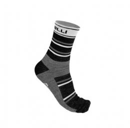 castelli paire de chaussettes gregge noir blanc 35 39