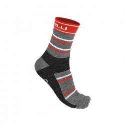 castelli paire de chaussettes gregge noir rouge 35 39