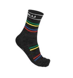 castelli paire de chaussettes gregge noir multi color 35 39