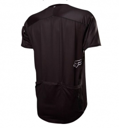 fox maillot attack zip manches courtes noir s