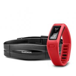 Bracelet Connecté Garmin VIVOFIT et Capteur Cardiaque Rouge