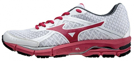 mizuno chaussures wave ultima 6 blanc rouge femme 37